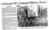Celebrate: It's Lebanon Library theme...