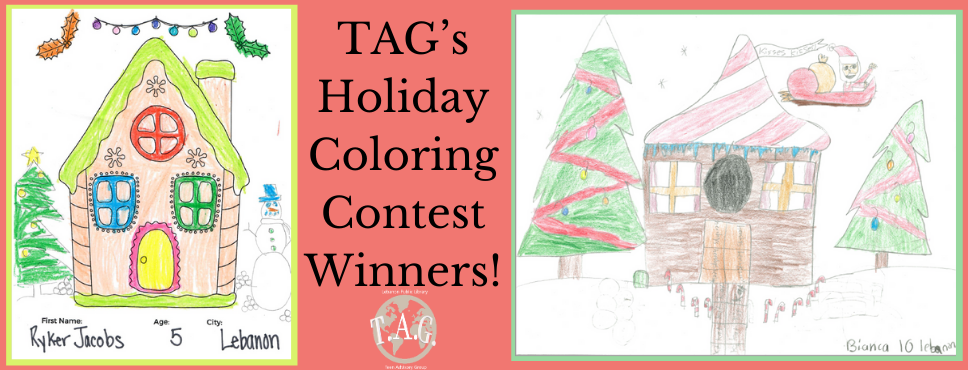 TAG Holiday Coloring Contest Winners